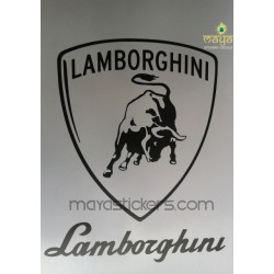 Lamborghini vinyl decal sticker for cars, bikes and laptop. Custom colors available